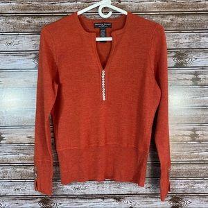 Marina Luna- 100% Merino Wool V-Neck Sweater